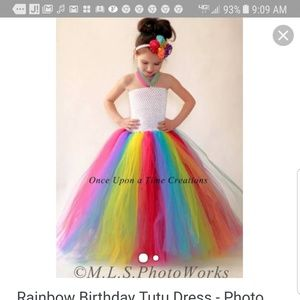 Other - Rainbow tutu dress